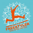 Freestyler winter sports skier vector art — Stockvektor