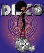 Afro disco girls vector art — Stock Vector