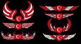 Turkish red flag vector art — Stock Vector