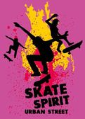 Urban skate spirit vector art — Stockvector