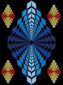 Zig zag deseni tekstil vektör sanat — Stok Vektör