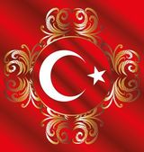 Turkish red flag vector art — Stock Vector