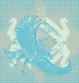 Arte deportivo águila espíritu vector — Vector de stock