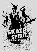 Urban skate spirit vector art — Stock Vector
