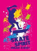 Arte de vetor de espírito urbano skate — Vetor de Stock