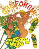 Palm beach samba mädchen vektor kunst — Stockvektor