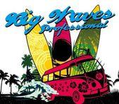 Palm beach surfer girls vector art — Stockvektor