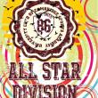 All star division vector art — Stock Vector
