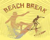Pacific surfer vektor grafisk design — Stockvektor