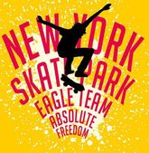 Street sports skateboarding vector art — Stock Vector
