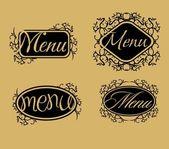 Vintage retro menu line vector art — Stock Vector