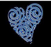 Blue amulet line vector art — Stock Vector