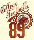 Sztuka wektor college futbolu amerykańskiego — Wektor stockowy