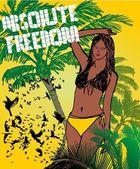 Palm beach bikini beach girls vector art — Stock Vector
