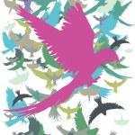 Parrot palm beach vector art — Stock Vector #33210219