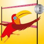 Pacific ocean beach volley vector art — Stock Vector #33213209