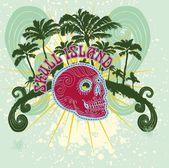 Tattoo tribal skull island vector art — Stock Vector