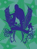 Pacific surfer vector graphic design — Vector de stock