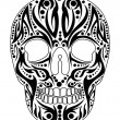 Tattoo tribal skull vector art — Stock Vector #33941035