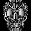 Tattoo tribal skull vector art — Stock Vector #33942367
