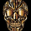 Tattoo tribal skull vector art — Stock Vector #33942551