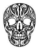 Dövme tribal kafatası vektör sanat — Stok Vektör