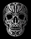 Tattoo tribal skull vector art — Stock Vector