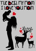 Happy mothers day vector art — Stock Vector