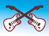 Hand oben Gitarre Vektorgrafiken — Vetor de Stock