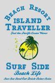 Paradise palm island vector art — Vector de stock