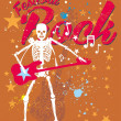 Skeleton disco music retro style vector art — Stock Vector