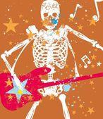 Rock star guitar vector art — Vecteur