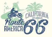 California retro route 66 vector art — Stock Vector