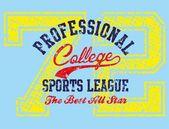 American college sports vector art — Stock Vector