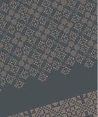 Geometric ethnic design vector art — Stok Vektör