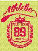 College polo player vector art — Stock Vector