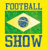 Braziliaanse voetbal retro stijl vector kunst — Stockvector
