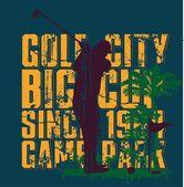 Yaz spor golf oyuncusu vektör sanat — Stok Vektör