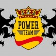 Eagle power team vector art — Vector de stock #34247861