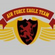 Eagle power team vector art — Vector de stock #34249593