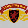 Eagle power team vector art — Vecteur #34249593