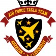Air force eagle team vector art — Stock Vector