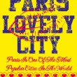 Paris city slogan vector art — Imagen vectorial