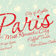 Paris city slogan vector art — Vettoriale Stock