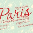 Paris city slogan vector art — Stockvectorbeeld