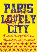 Paris city slogan vector art — Wektor stockowy