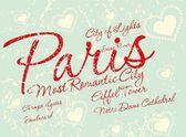 Paris cidade arte slogan vector — Vetorial Stock