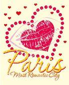 Paris city slogan vector art — 图库矢量图片