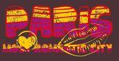 Paris city slogan vector art — Διανυσματικό Αρχείο