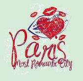 Paris city slogan vector art — Stockvector